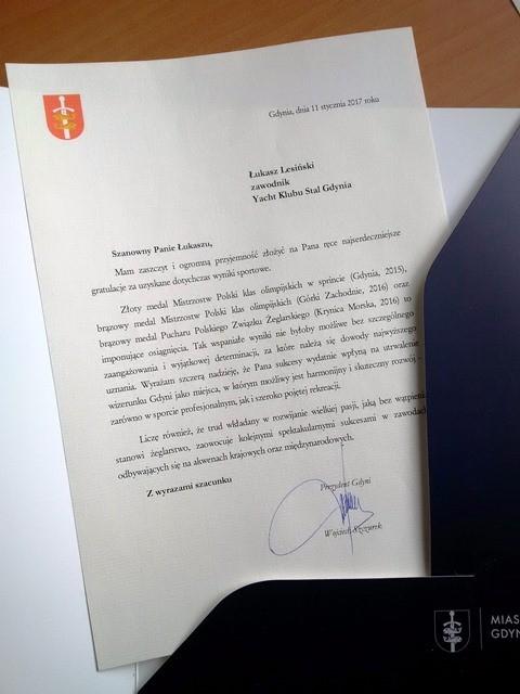 Wyróżniony przez Prezydenta Miasta Gdynia